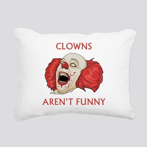 Clowns Aren't Funny Rectangular Canvas Pillow